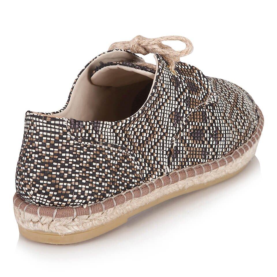 resm Hakiki Deri Haki Kadın Düz Ayakkabı