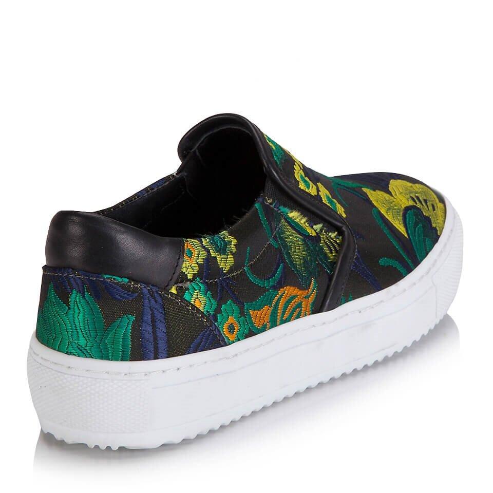 resm Tekstil Haki Kadın Spor Ayakkabı