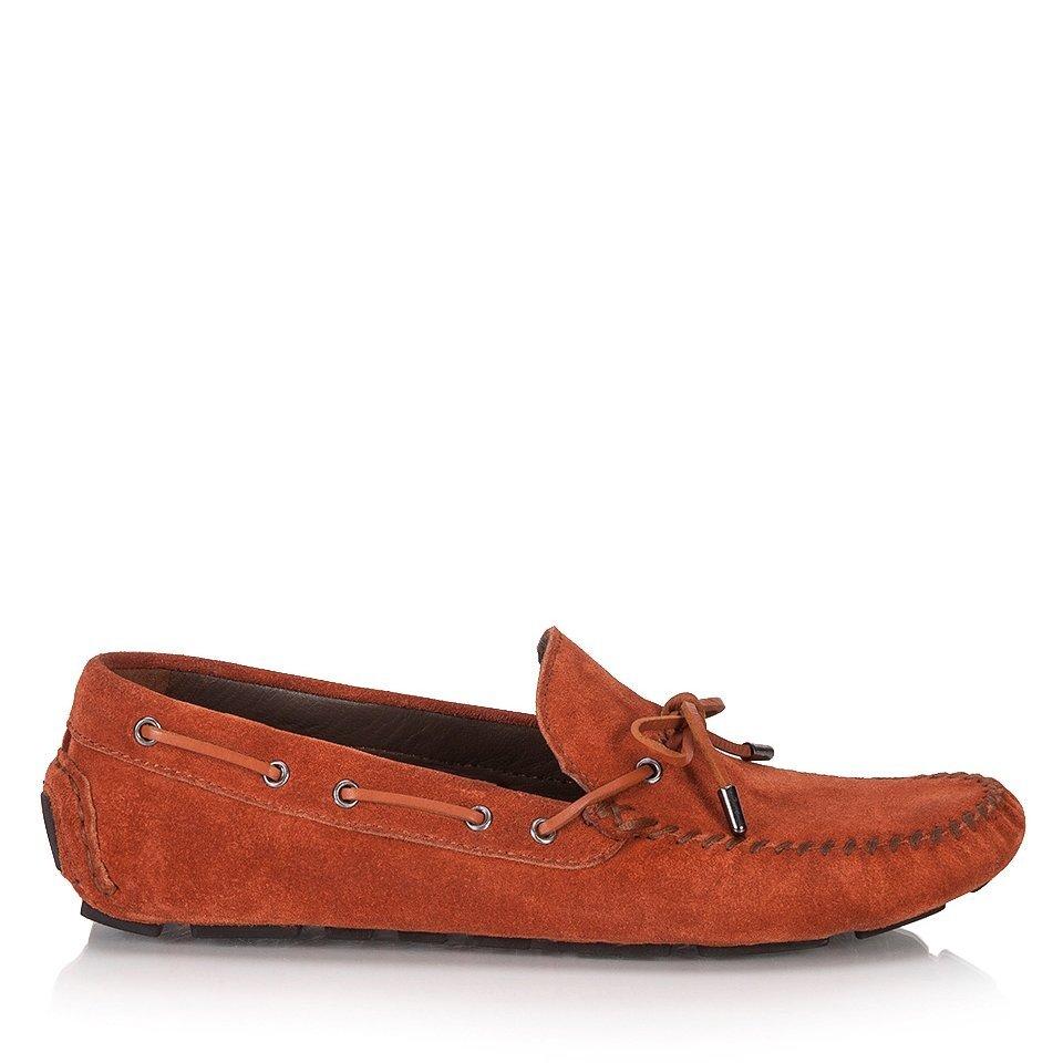 resm Hakiki Deri Kırmızı Erkek Loafer