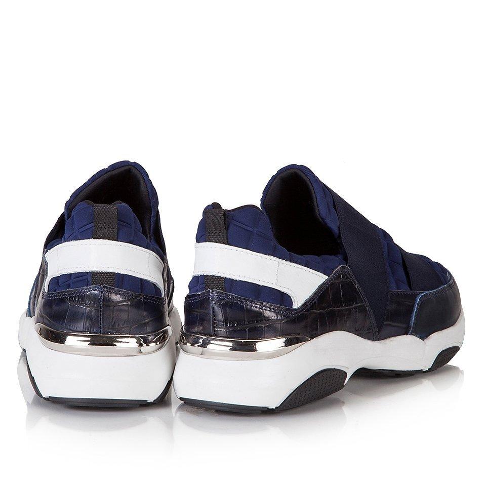 resm Hakiki Deri Lacivert Erkek Spor Ayakkabı