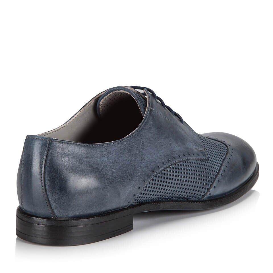 resm Hakiki Deri Mavi Erkek Klasik Ayakkabı