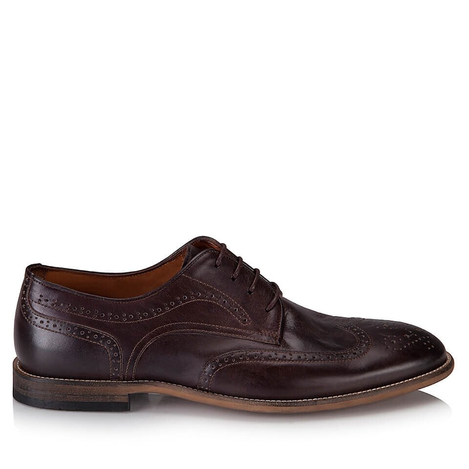 resm Hakiki Deri Kahve Erkek Klasik Ayakkabı