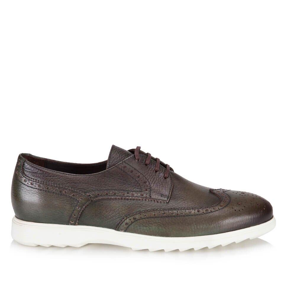 resm Hakiki Deri Yeşil Erkek Günlük Ayakkabı