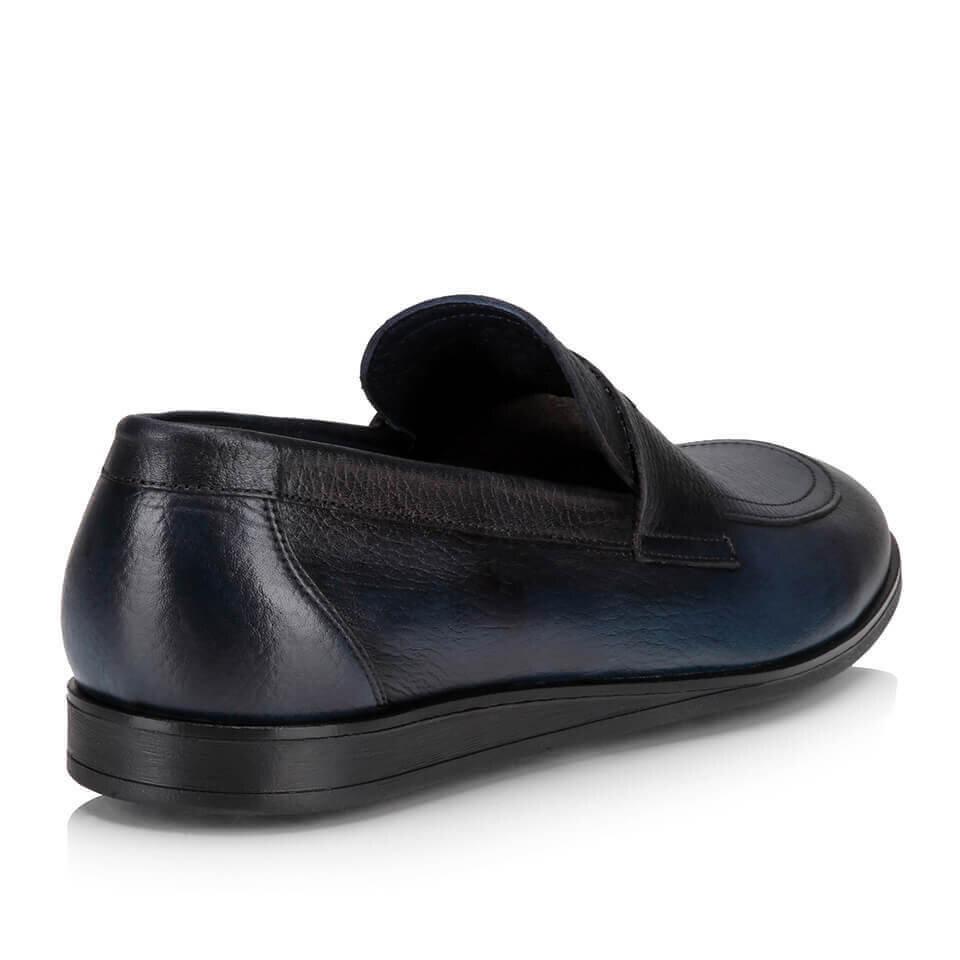 resm Hakiki Deri Lacivert Erkek Loafer