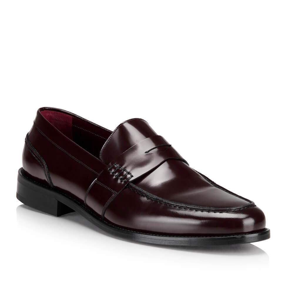 resm Hakiki Deri Bordo Erkek Klasik Ayakkabı