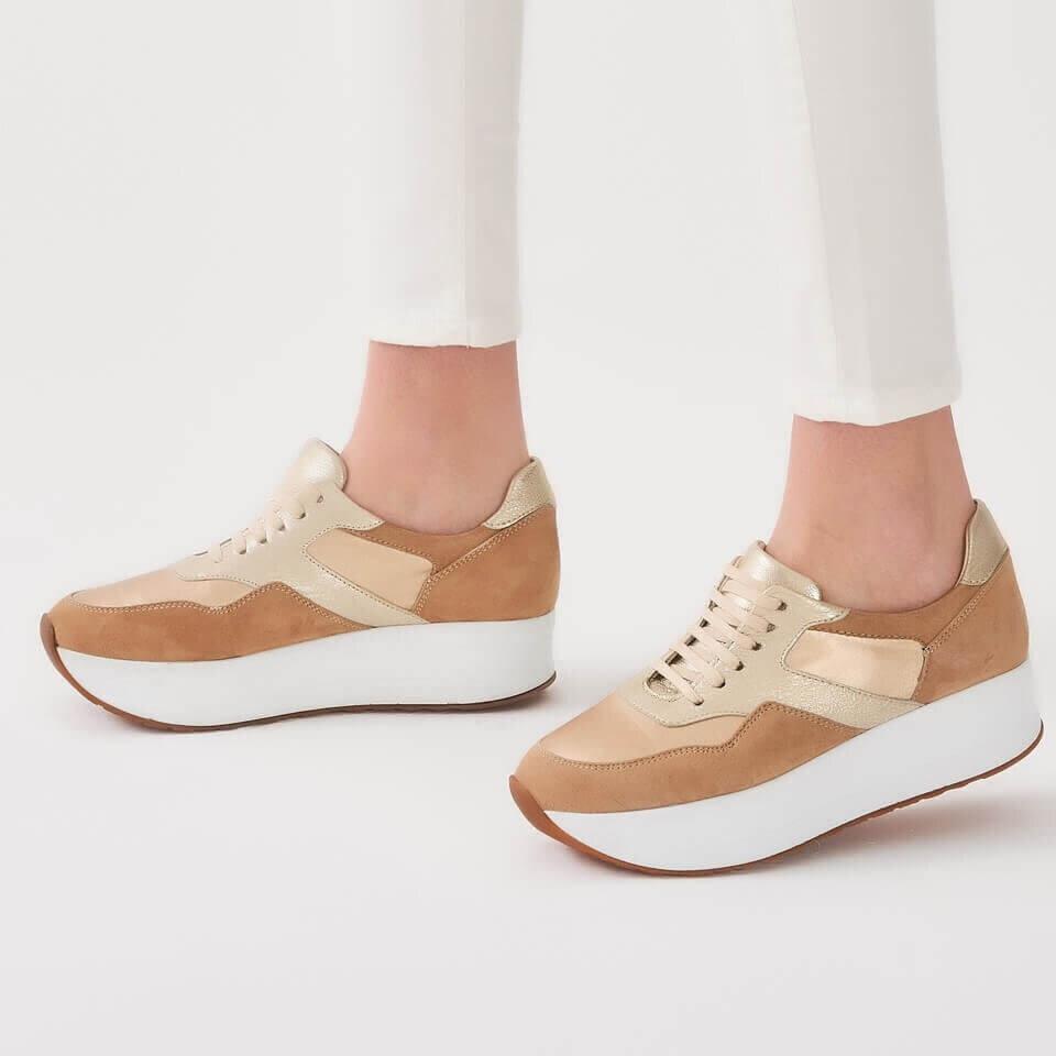 resm Hakiki Deri Vizon Kadın Spor Ayakkabı