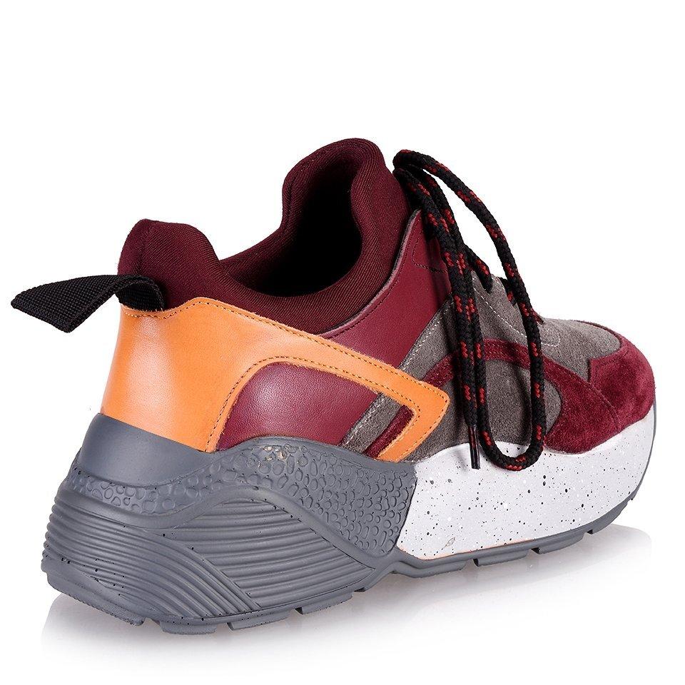 resm Hakiki Deri Bordo Kadın Spor Ayakkabı