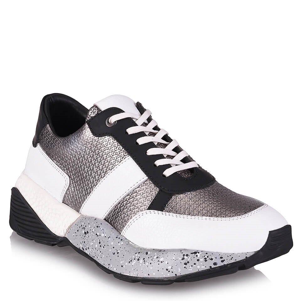 resm Hakiki Deri Gri Erkek Spor Ayakkabı