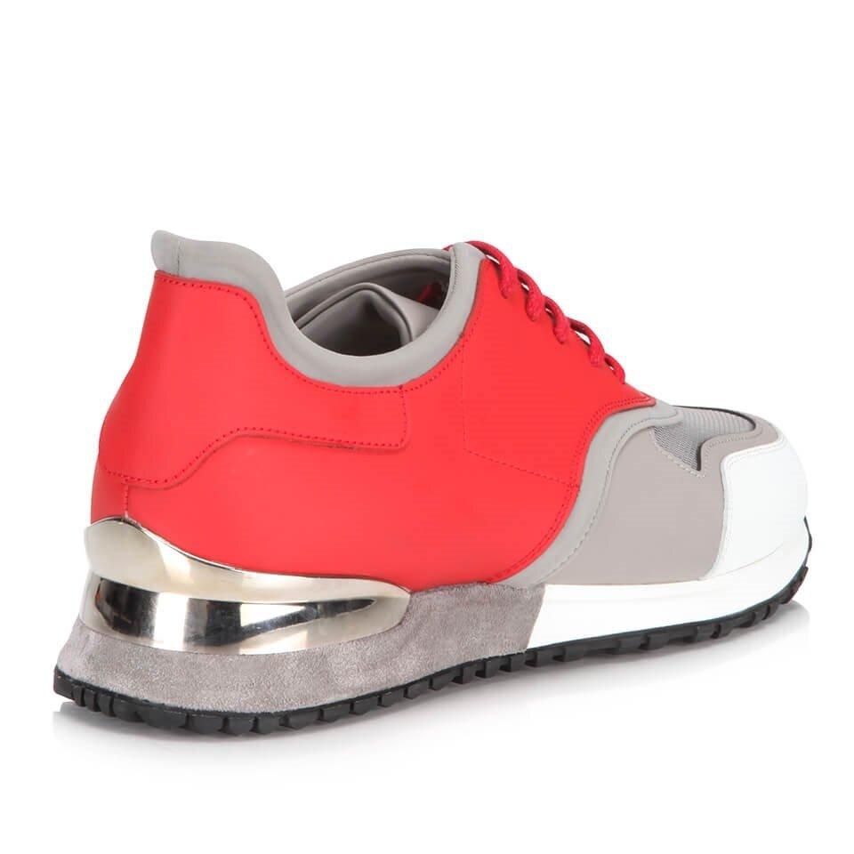 resm Hakiki Deri Kırmızı Erkek Spor Ayakkabı