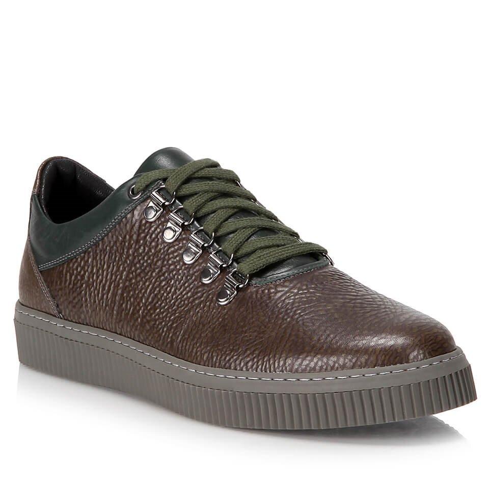 resm Hakiki Deri Yeşil Erkek Spor Ayakkabı