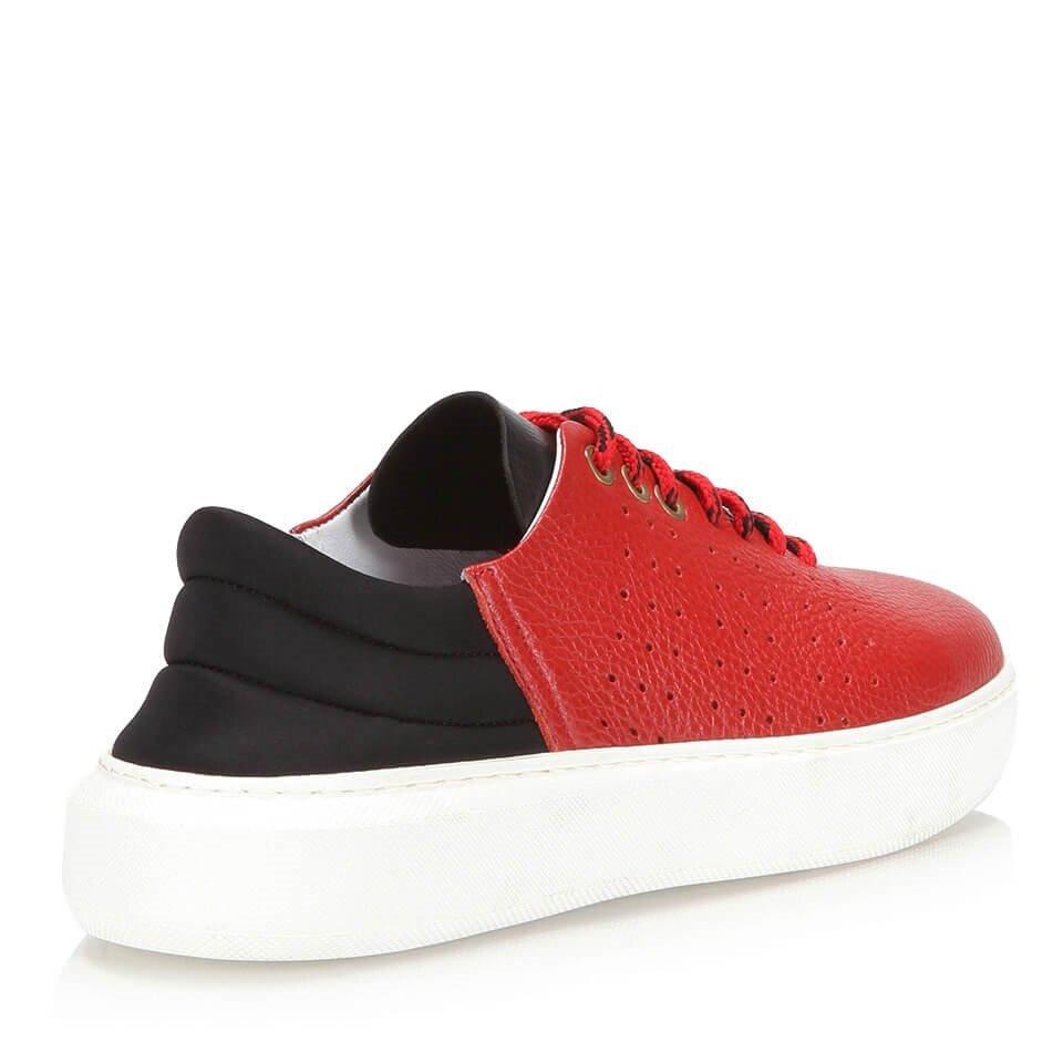 resm Hakiki Deri Kırmızı Kadın Spor Ayakkabı