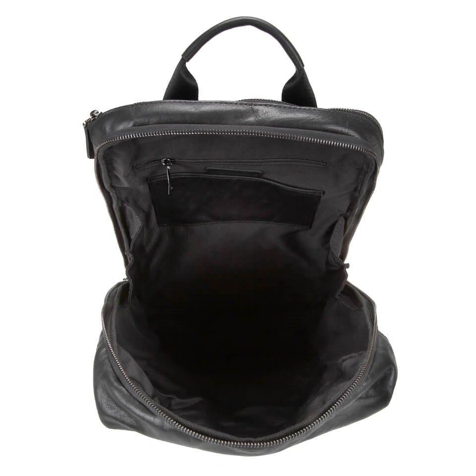 resm Hakiki Deri Siyah Çanta&Aksesuar Sırt Çantası