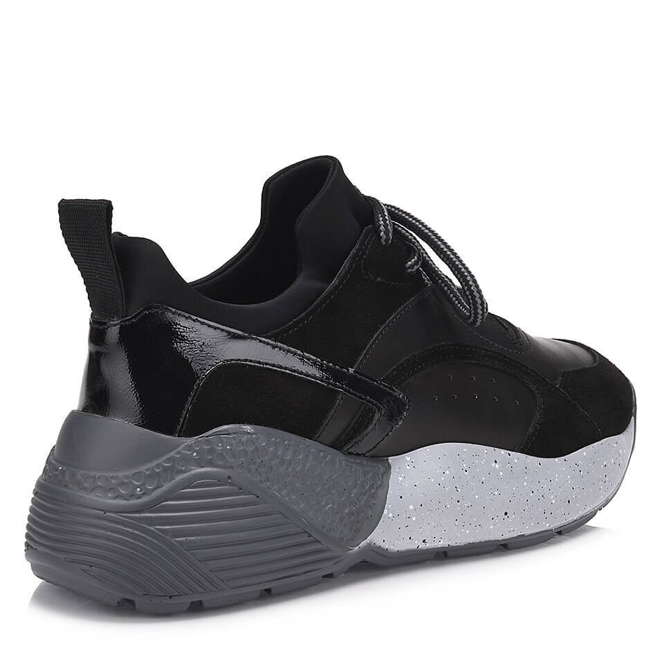 resm Hakiki Deri Siyah Kadın Spor Ayakkabı