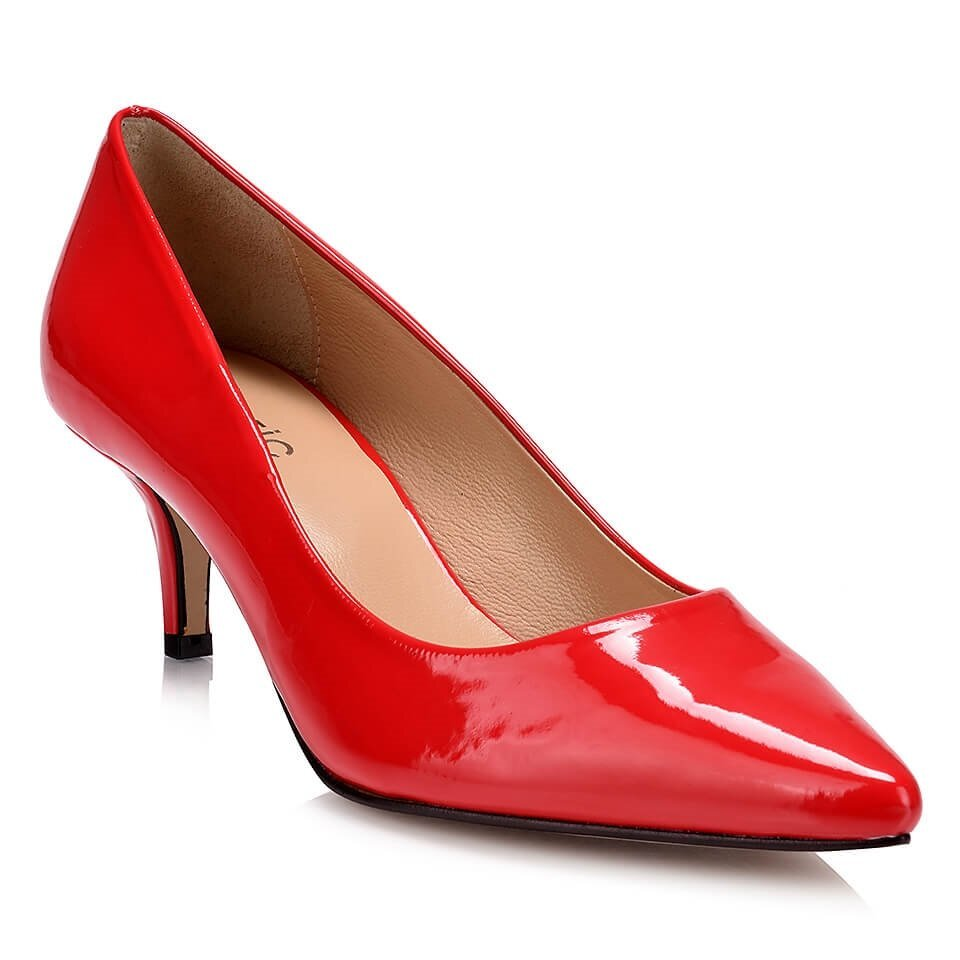 resm  Kırmızı Kadın İnce Topuk