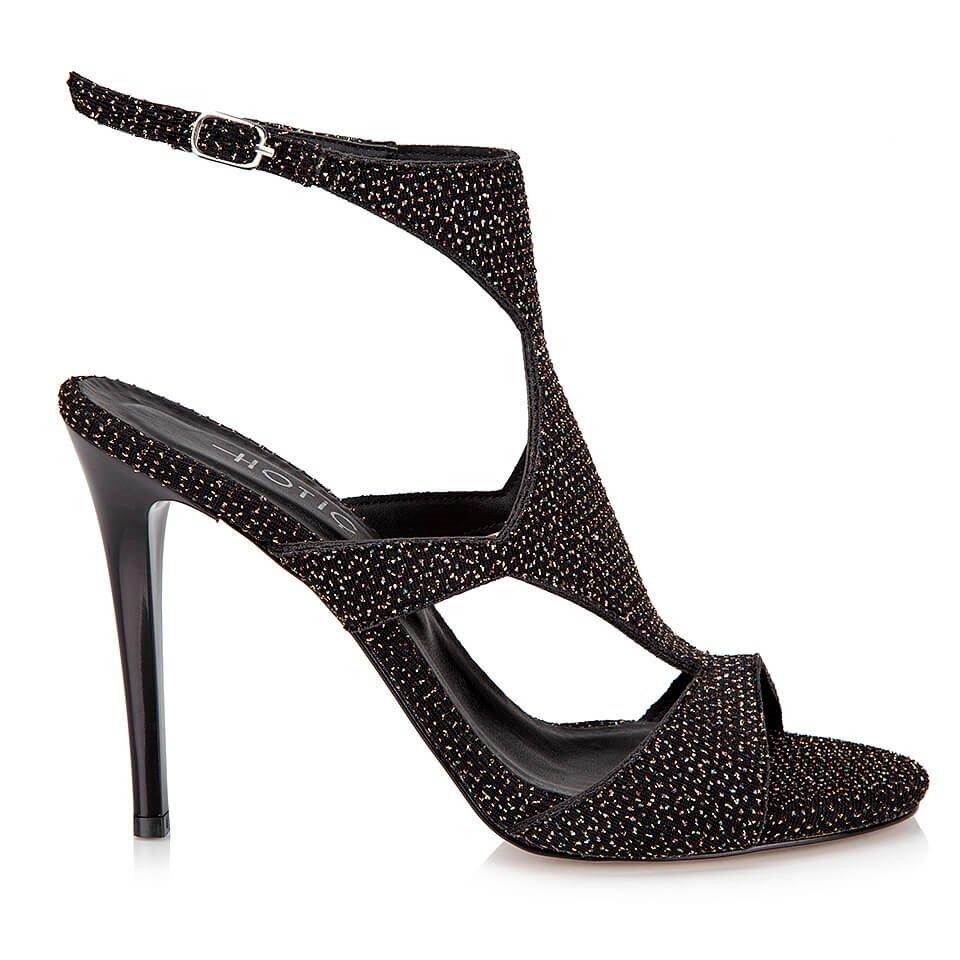 resm Tekstil Siyah Kadın Topuklu Sandalet