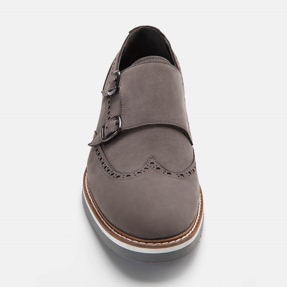 resm Hakiki Deri Antrasit Erkek Günlük Ayakkabı