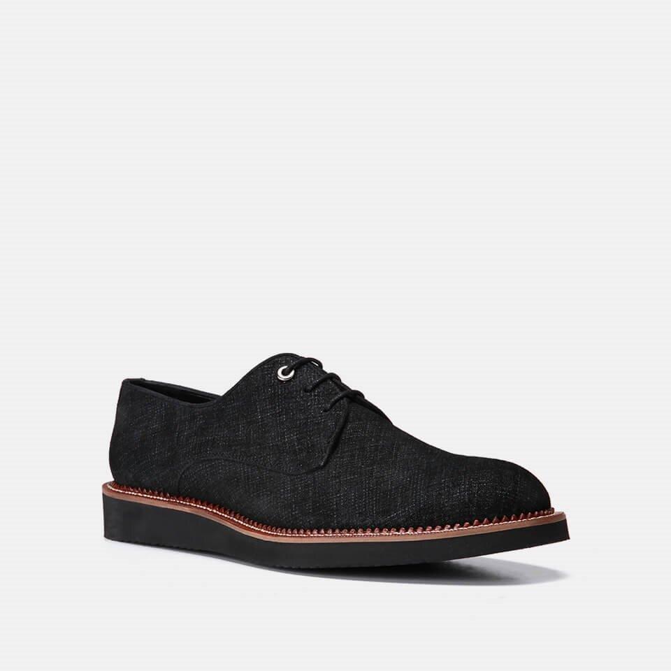 resm Tekstil Siyah Erkek Günlük Ayakkabı