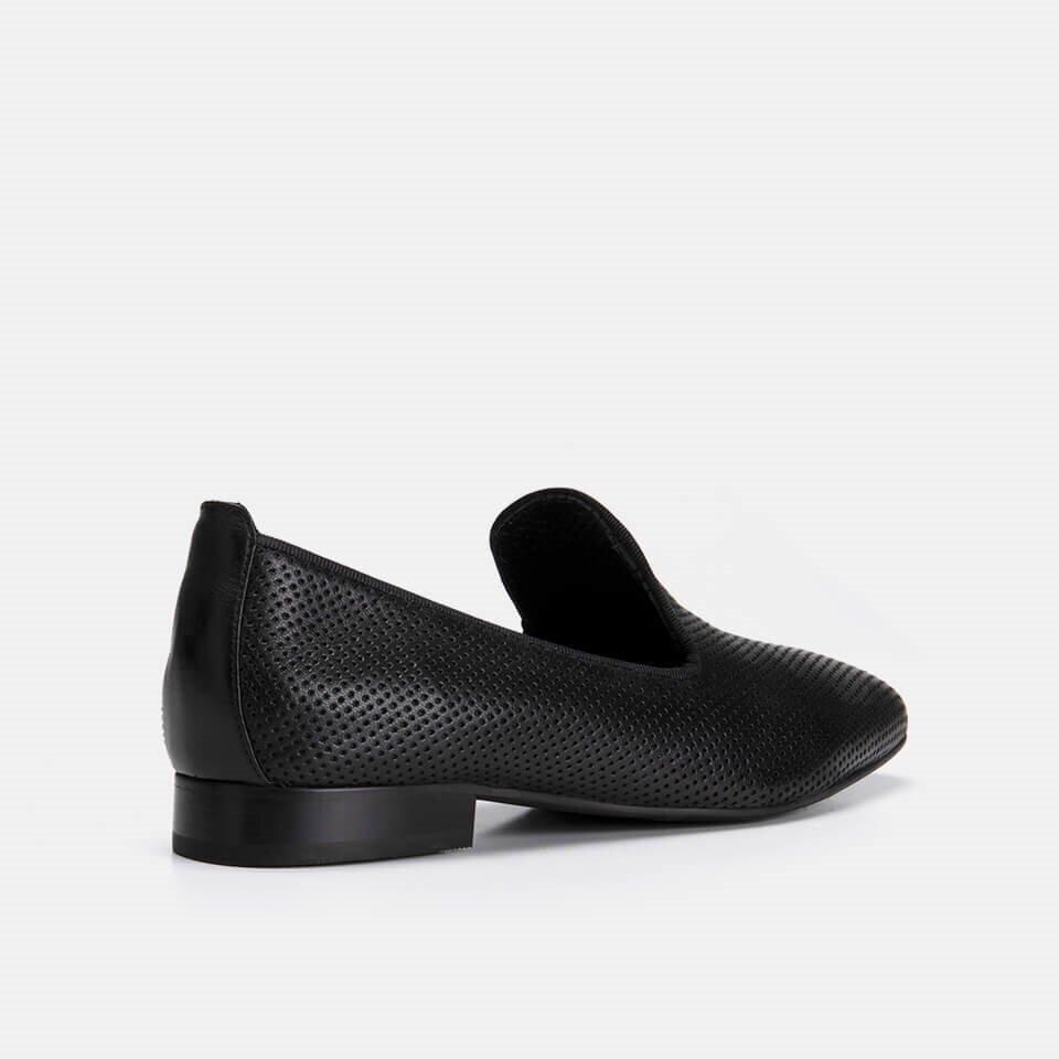 resm Hakiki Deri Siyah Kadın Loafer