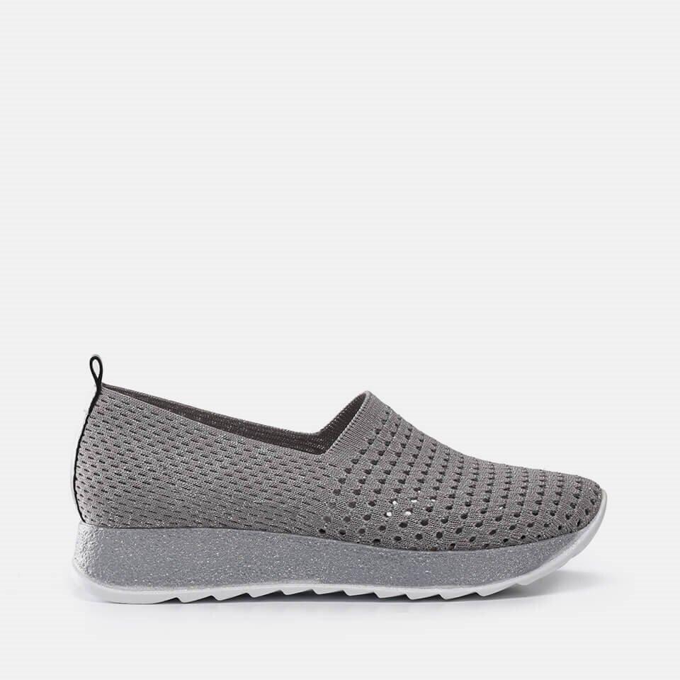 resm Tekstil Gri Kadın Spor Ayakkabı
