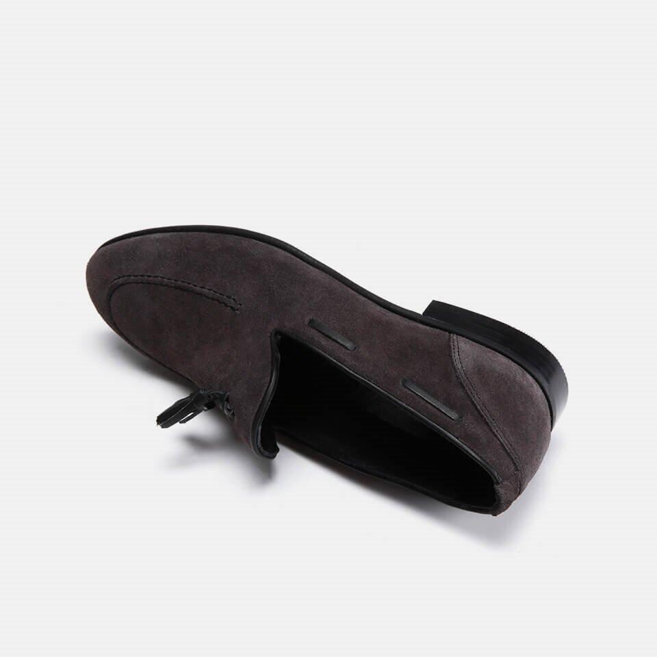 resm Hakiki Deri Gri Erkek Loafer