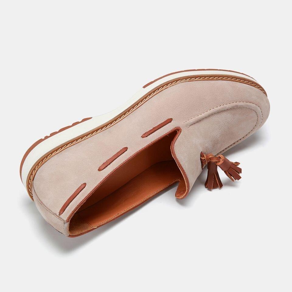 resm Hakiki Deri Vizon Erkek Loafer
