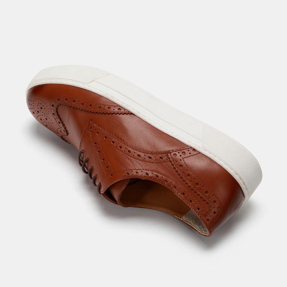 resm Hakiki Deri Taba Erkek Spor Ayakkabı