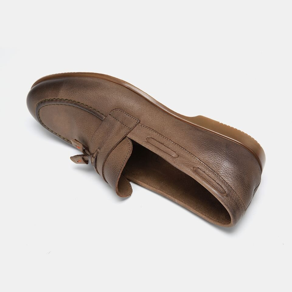 resm Hakiki Deri Haki Erkek Loafer