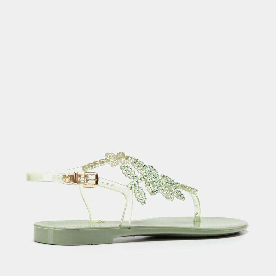 resm  Yeşil Kadın Düz Sandalet