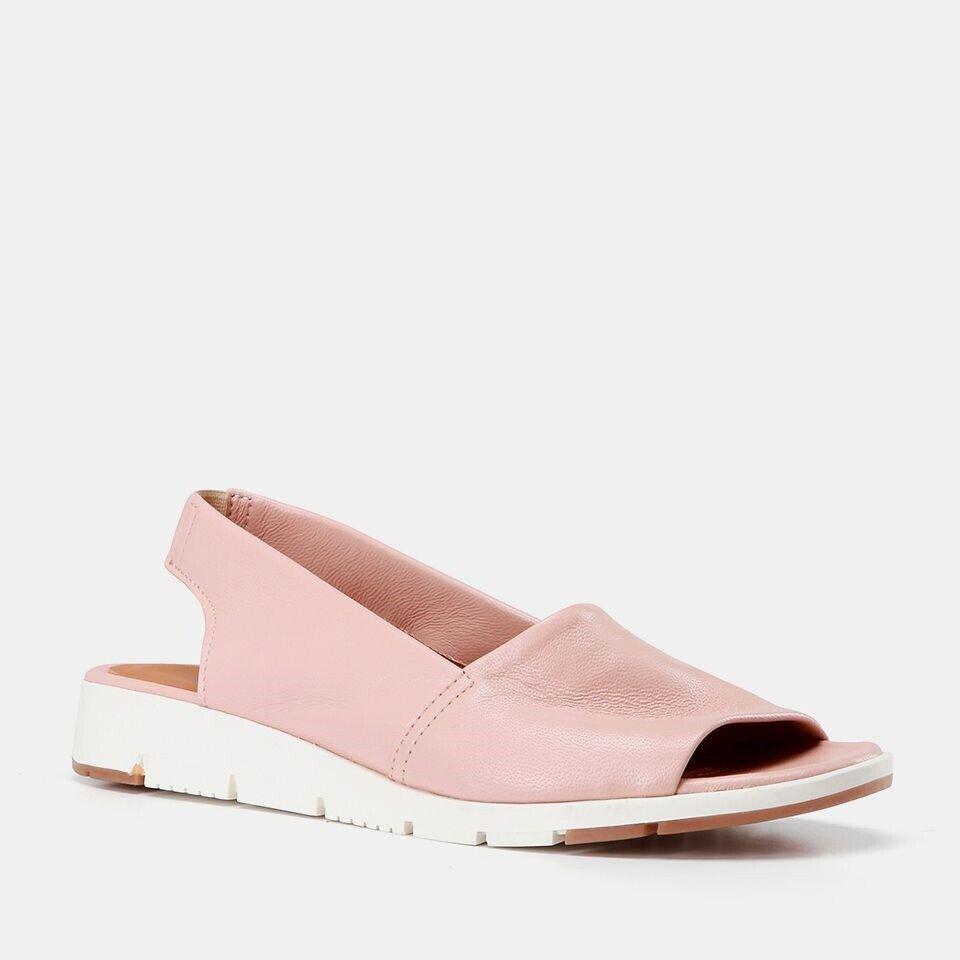resm Hakiki Deri Pudra Kadın Düz Sandalet