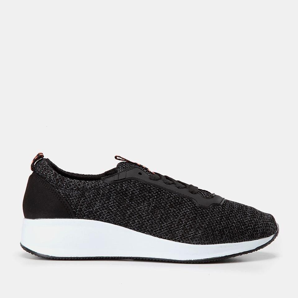 resm Tekstil Siyah Yaya Spor Ayakkabı