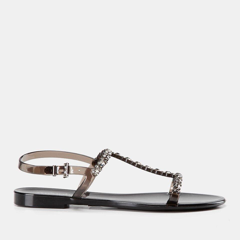 resm  Siyah Kadın Düz Sandalet