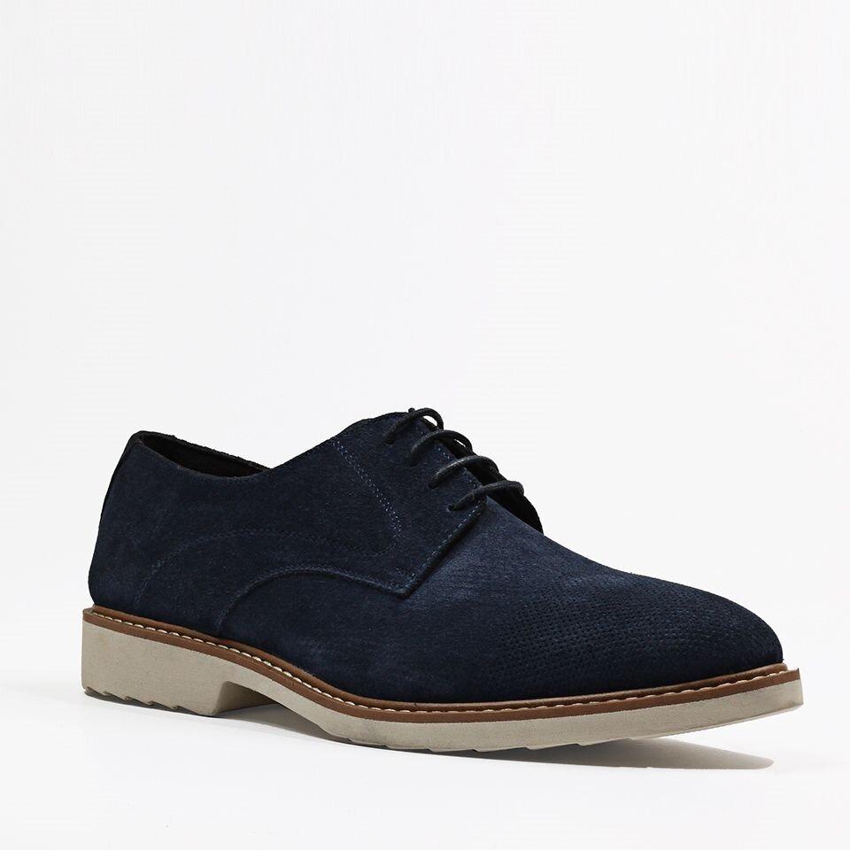 resm Hakiki Deri Mavi Erkek Günlük Ayakkabı