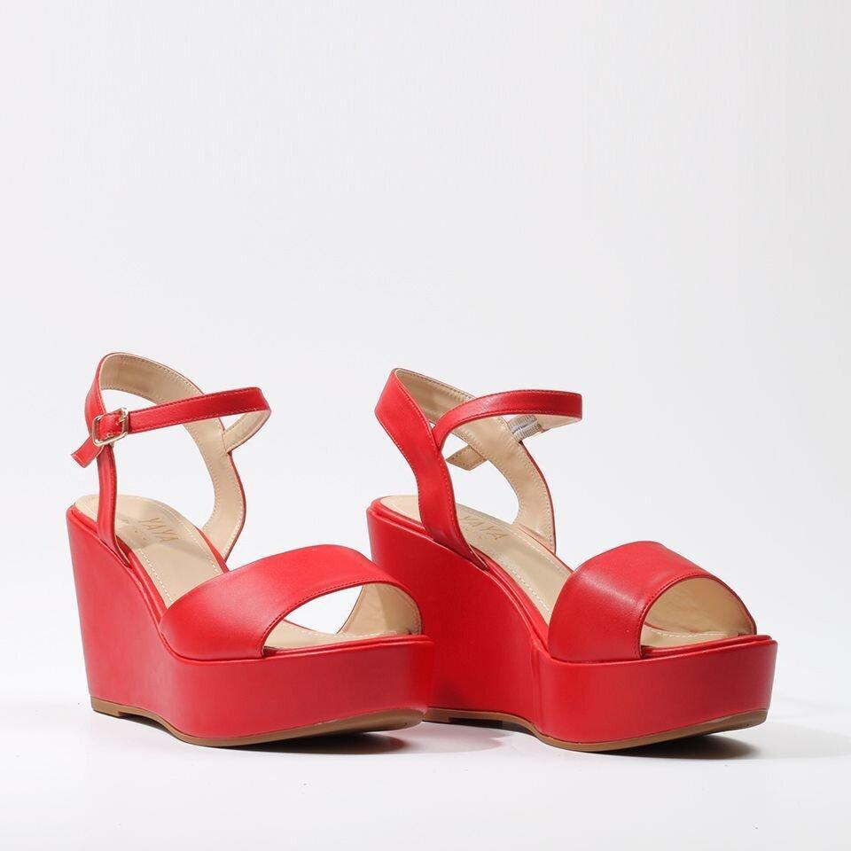 resm  Kırmızı Yaya Sandalet