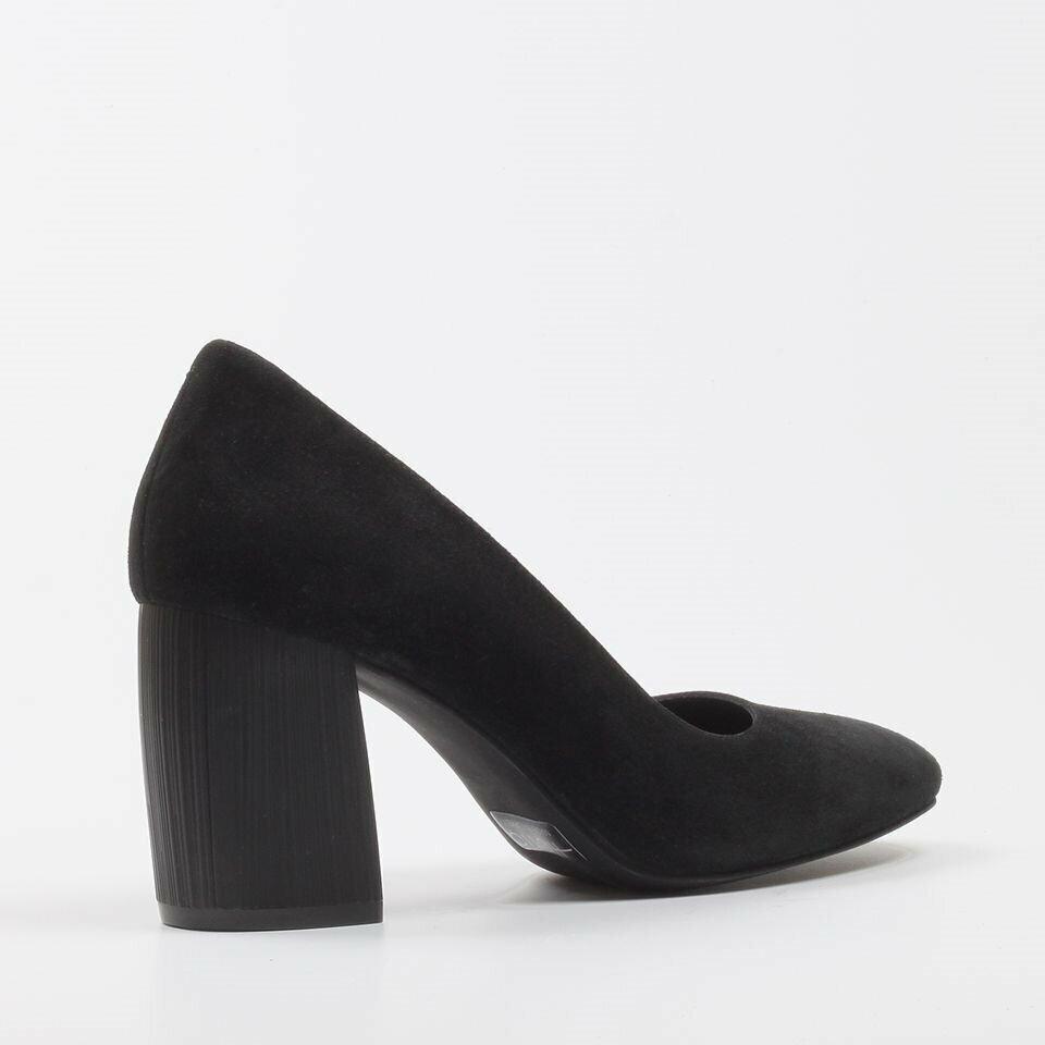 resm Hakiki Deri Siyah Kadın Kalın Topuk