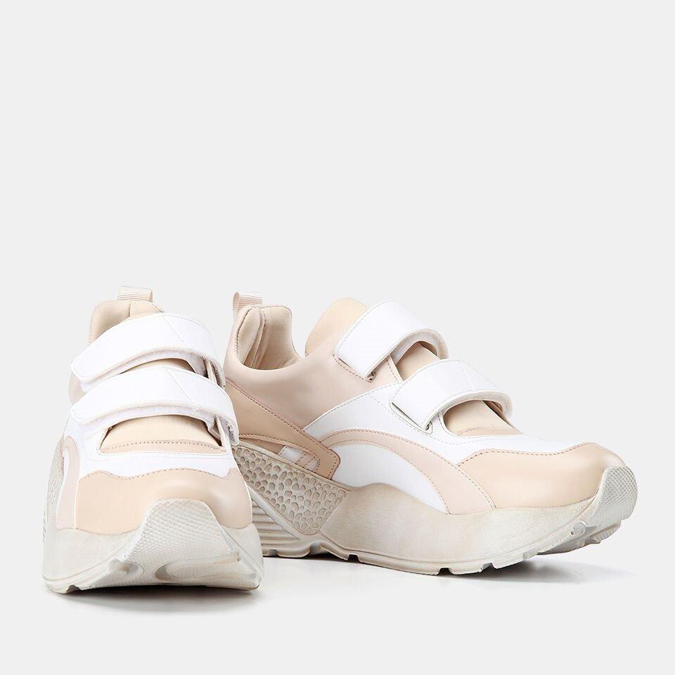 resm Hakiki Deri Bej Kadın Spor Ayakkabı