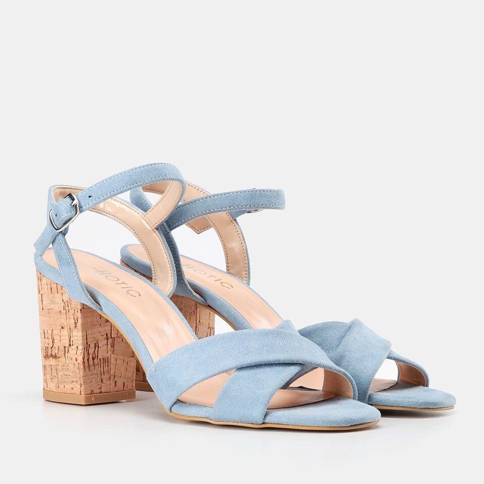 resm  Mavi Kadın Topuklu Sandalet