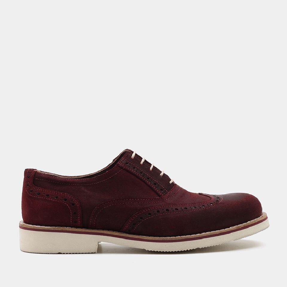 resm Hakiki Deri Bordo Erkek Günlük Ayakkabı