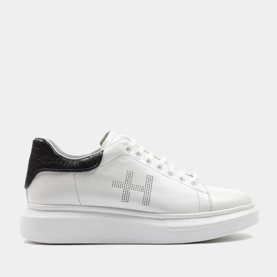 resm Hakiki Deri Beyaz Erkek Spor Ayakkabı