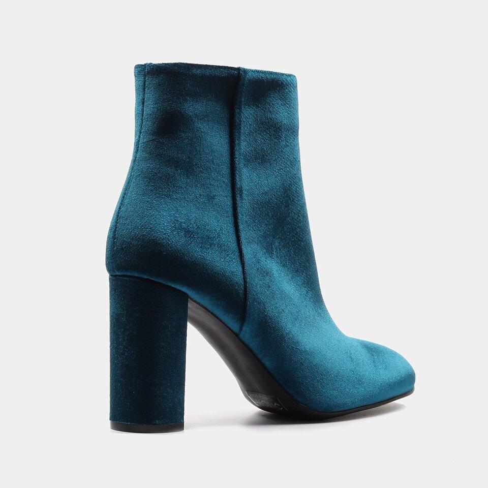 resm Tekstil Mavi Kadın Topuklu Bot