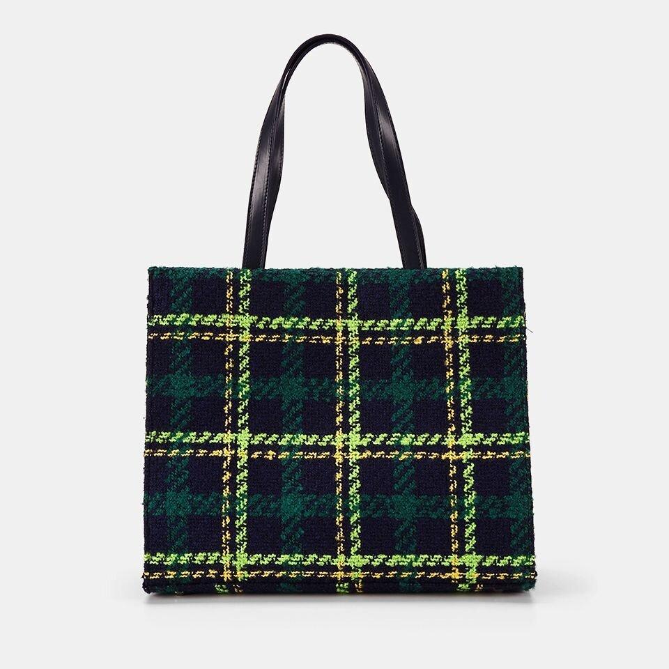 resm Tekstil Yeşil Kadın Çanta