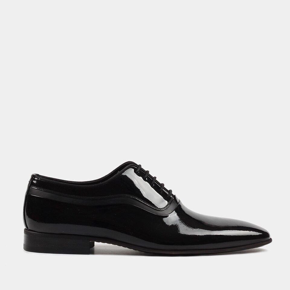 resm Hakiki Deri Siyah Erkek Klasik Ayakkabı