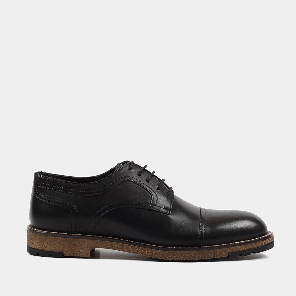 resm Hakiki Deri Siyah Erkek Günlük Ayakkabı