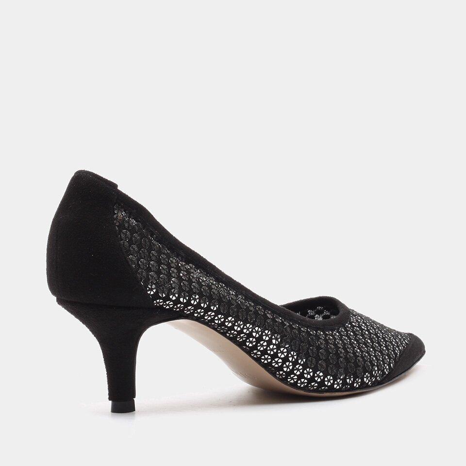 resm Tekstil Siyah Kadın Stiletto