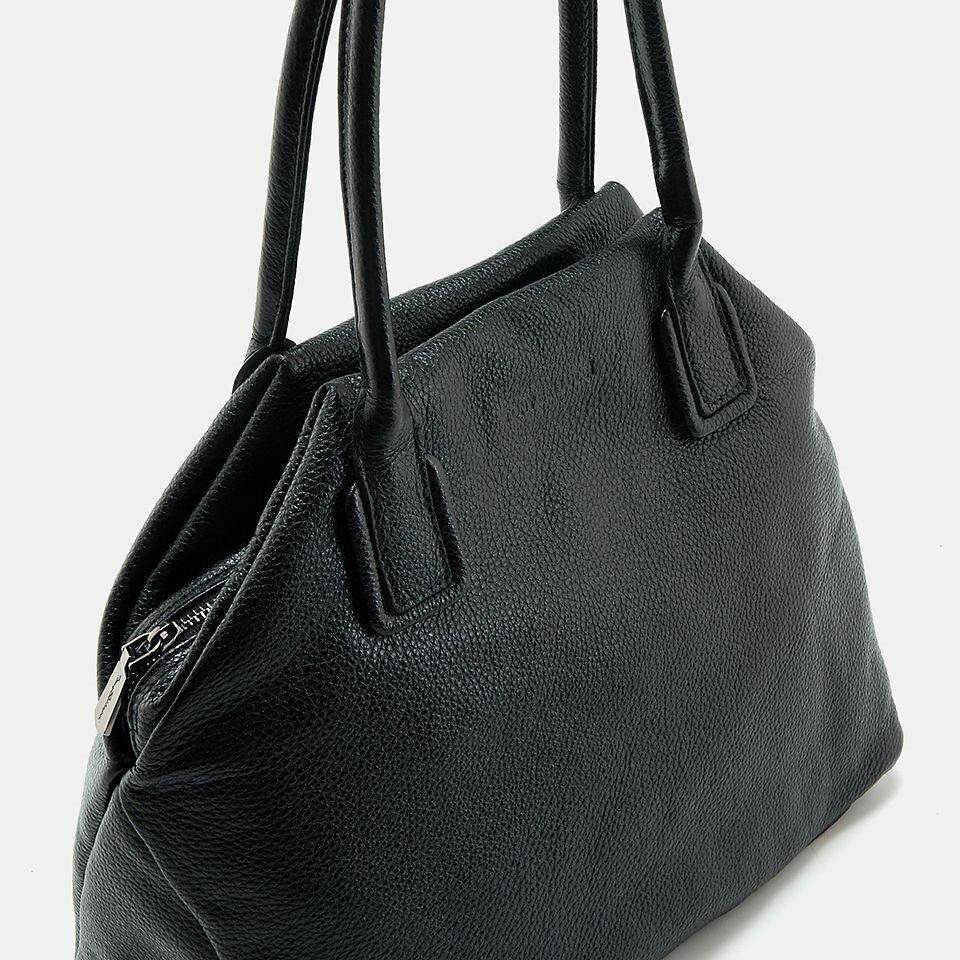 resm Hakiki Deri Siyah Kadın Çanta