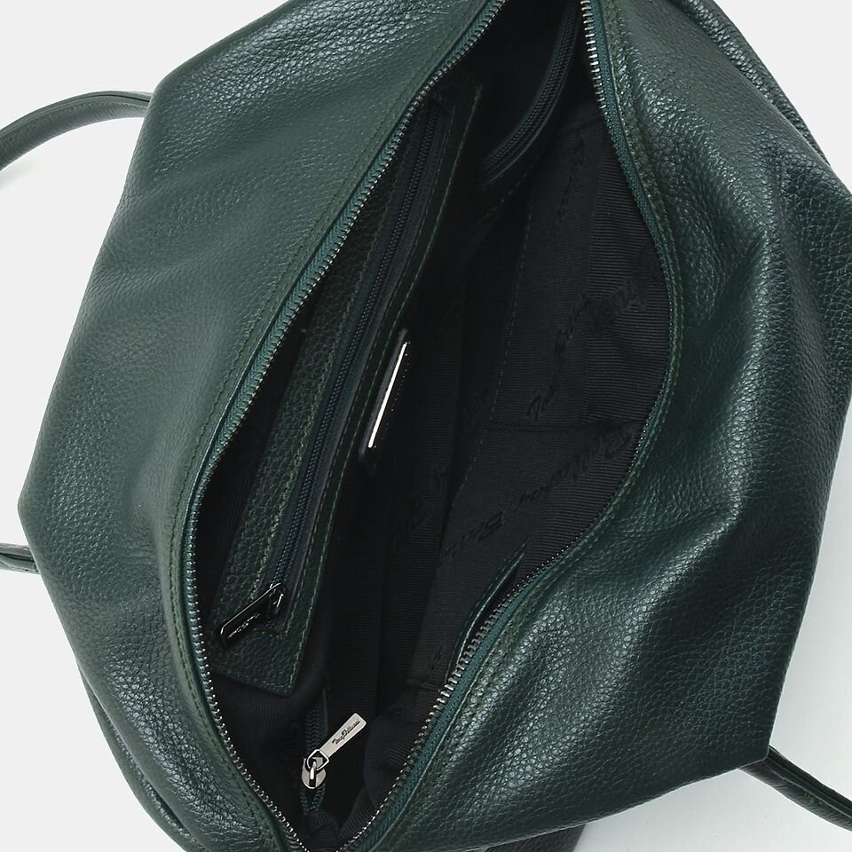 resm Hakiki Deri Yeşil Kadın Çanta