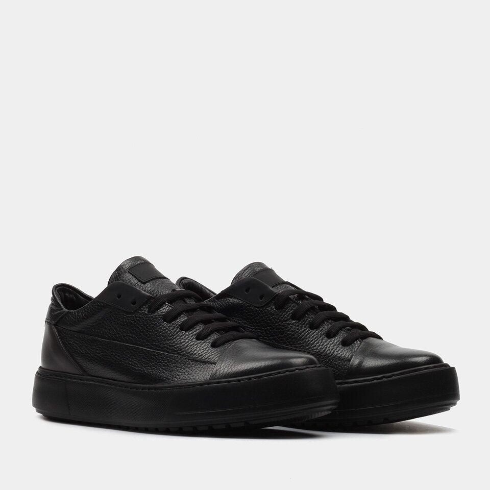 resm Hakiki Deri Siyah Erkek Spor Ayakkabı