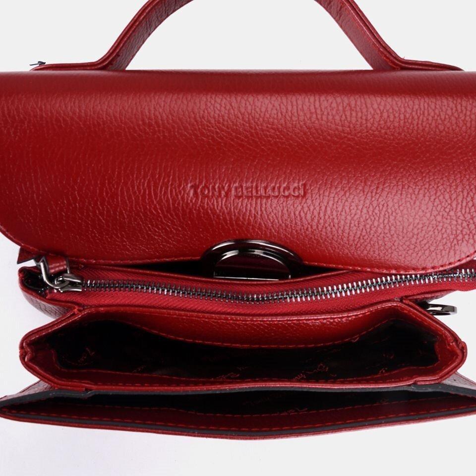 resm Hakiki Deri Kırmızı Kadın Mini (Çapraz) Çanta