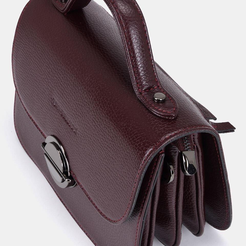 resm Hakiki Deri Bordo Kadın Mini (Çapraz) Çanta