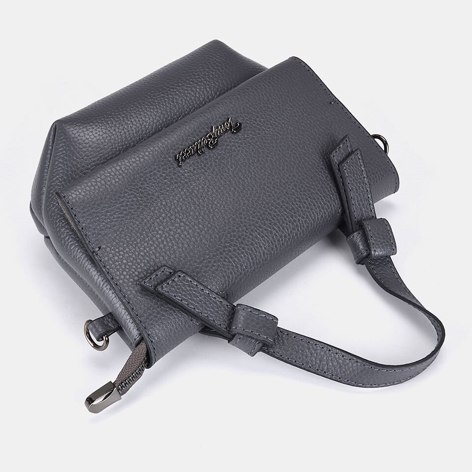 resm Hakiki Deri Gri Çanta&Aksesuar Mini (Çapraz) Çanta