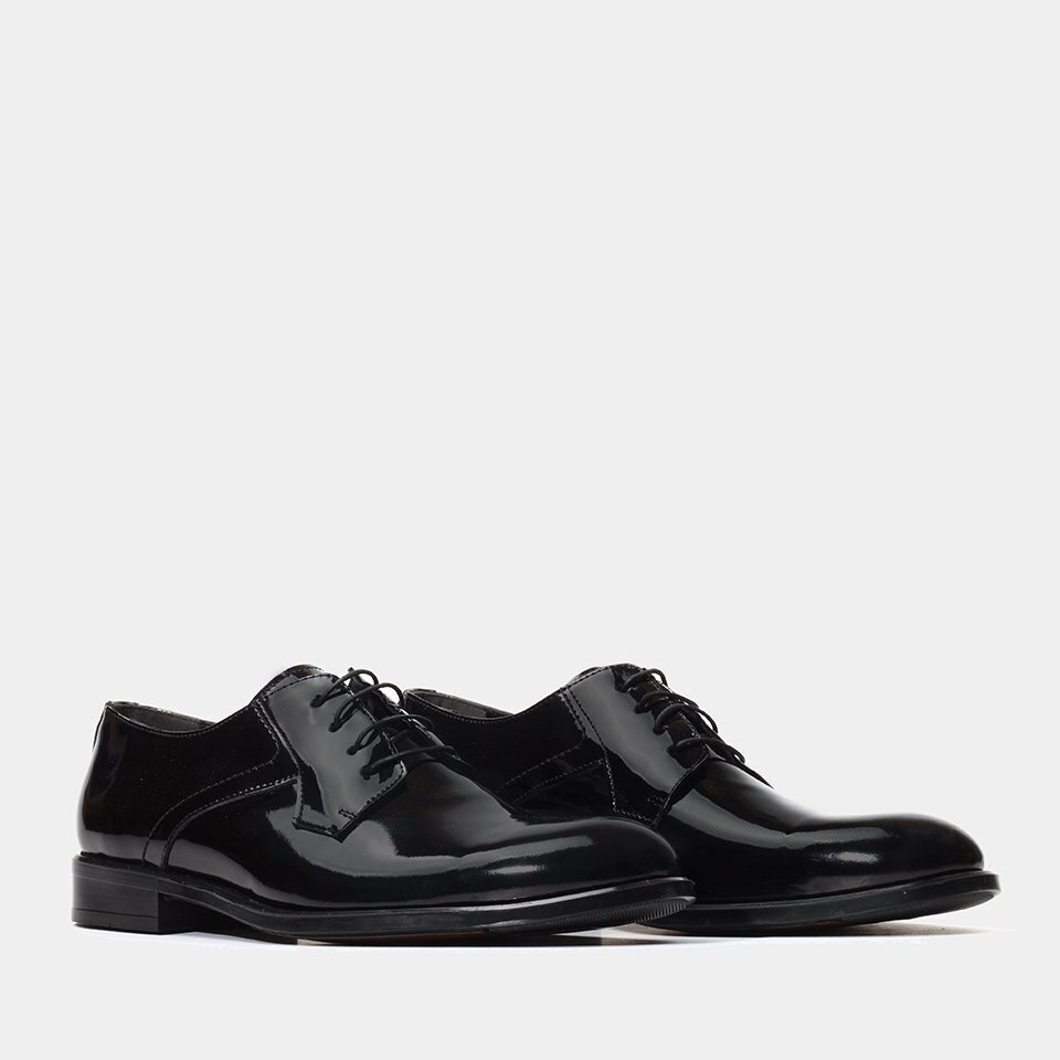 resm Hakiki Deri Siyah Yaya Klasik Ayakkabı